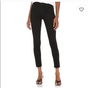 NEW MOTHER The Looker Ankle Fray jeans Not Guilty
